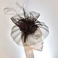 Amazing Pewter Steel Grey Wedding Hatinator 1137/1138